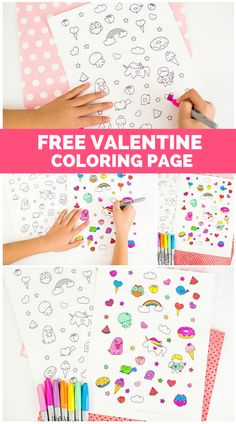 Adorable Free Printable Valentine Coloring Page Kids (and adults) Will Love!