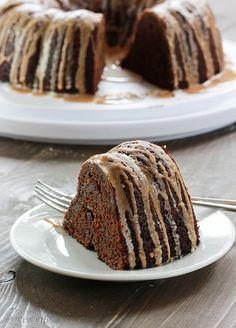 Chocolate Pumpkin Cake with Spiced Glazes | Liv Life