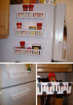 Magnetic Spice Rack for Refrigerator   Small Kitchen Ideas For Renters : How To Organize Efficiently This Holiday
