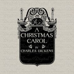 A Christmas Carol Charles Dickens Book Cover by DigitalThings, $1.00