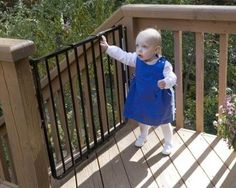 Stairway Special Baby Gate for Outdoors Colors: Black The Stairway Special Gate for Outdoors is a maximum baby safety gate for outdoor locations such as a Safety Gates For Stairs, Baby Gate For Stairs, Child Safety Gates, Porch Gate, Deck Gate, Outdoor Stairs, Deck Stairs, Outdoor Gates, Home Safety