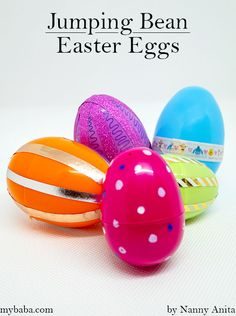 Turn old plastic eggs into jumping bean Easter eggs and challenge yourself and others to see how far down your arm you can roll them. Plastic Easter Eggs, Easter Egg Dye, Things To Do Inside, Fun Things, Fun Challenges, Jumping Beans, All The Way Down, Easter Baskets, Easter Crafts