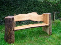 40 Cheap DIY Outdoor Bench Design Ideas for Backyard Frontyard 38 Log Projects, Outdoor Projects, Garden Projects, Log Furniture, Garden Furniture, Outdoor Furniture, Furniture Ideas, Unique Furniture, Furniture Design