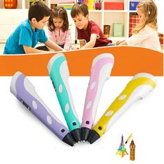 3D Pen selling children's painting drawing pen With Temperature Screen With Free ABS Filament