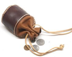 genuine leather bag hand made di sashaleather Leather Accessories, Leather Jewelry, Leather Craft, Small Coin Purse, Coin Bag, Leather Pouch, Leather Tooling, Leather Totes, Leather Purses