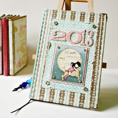 Love this journal cover using Kelly Panacci Blossom Scrapbook papers by K & Company