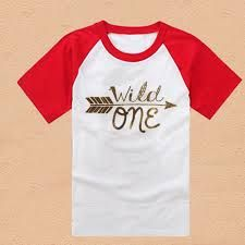 Wild One 100% Cotton T Shirt Kids Arrows Hipster