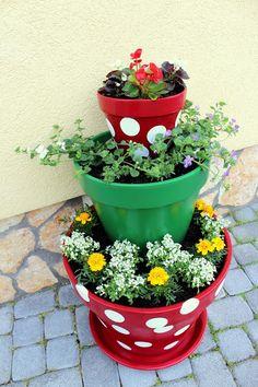 anett's hand painted terracotta pots
