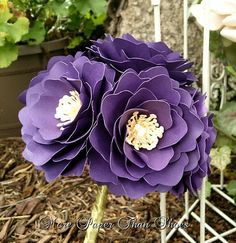 Paper Flowers - Wedding Bouquet - Handmade - Made To Order - Variety of Colors - Flower Girl - Bridesmaids
