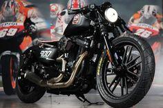 Roland Sands Design Team modified this 2010 Harley Davidson Nightster Harley Davidson 48, Harley Davidson Sportster, Harley Bobber, Custom Harleys, Custom Bikes, Roland Sands, Tony Hawk, Riding Gear, Skate Park
