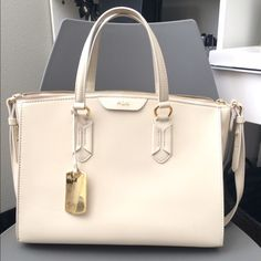 Ralph Lauren soft patent cream handbag Brand new without tags. Absolutely beautiful, perfect size. Easy to clean. Ralph Lauren Bags Shoulder Bags
