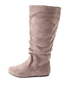 Slouchy Flat Knee-High Boots: Charlotte Russe - http://AmericasMall.com/categories/womens-wear.html