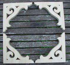 Four 4  Victorian Gingerbread Screen Door Brackets by dwolfer50, $15.00