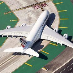 Plane on runway...