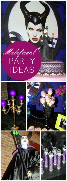 So many awesome ideas at this Maleficent party! See more party ideas at CatchMyParty.com!