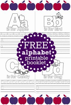 Free Alphabet Printable Coloring Booklet For Kids - perfect for teachers, homeschooling or summer vacation, too!