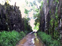corte de pedra na antiga estrada ferroviária (bairro Praínha)