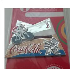 LONDON 2012 PARALYMPIC COCA - COLA DAY OF THE GAMES - DAY 2  CYCLING PIN BADGE