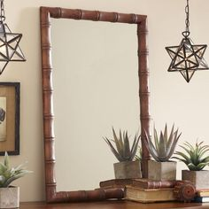 Sandpiper Mirror | With its striking bamboo framework, the Sandpiper mirror lends an exotic touch to any room.
