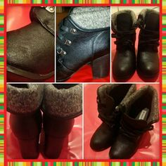 Bethany Mota boots Fold-down boots with sweater cuff. 2 inch heels excellent condition 1 barely perceptible scuff as shown in Bethany Mota Shoes Ankle Boots & Booties