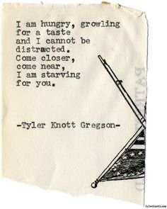 Typewriter Series #1971 by Tyler Knott Gregson Check out my Chasers of the Light Shop! chasersofthelight.com/shop