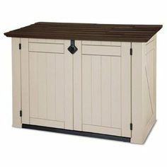 Keter 17187332 Mülltonnenbox Store it Out XL, Holzoptik, Kunststoff, beige/braun, für 2x240 Liter Mülltonnen: Amazon.de: Garten