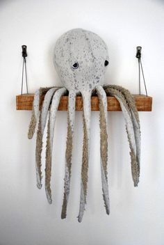 We can't wait to get our tentacles on this faux-fur–trimmed cotton octopus. #etsy #etsyfinds: