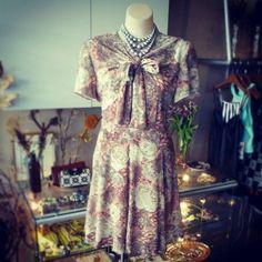 #vintage #fiftiesinspired #floral #dress $79 #50s #flowers #garden #frock #flora #pretty #lady #elegant