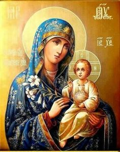Icon of virgin mary
