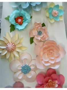 paper flowers by Eloise Corr Danch