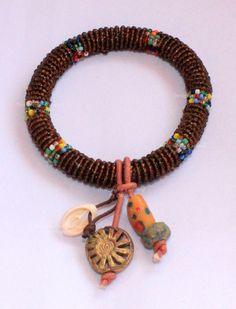 African beaded bracelet  African & Bohemian Jewelry by DazzlingGypsyQueen on Etsy, €19.95