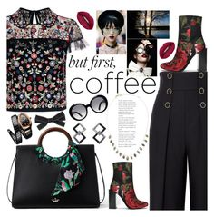 """Just an expresso..."" by guiarch ❤ liked on Polyvore featuring Needle & Thread, Karl Lagerfeld, Kate Spade, Jeffrey Campbell, Huda Beauty, Melissa Joy Manning, Bulgari, Helen Rankin, Tod's and Chanel"