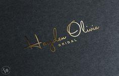Logo   Brand Design :: Hayden Olivia Bridal :: saffron avenue