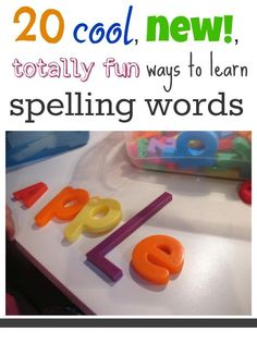 Here are 20 + ways of making learning to spell a fun activity for kids! Try these fun hands on activities for learning spelling words! It's a great way to engage kids with letters and spelling and word work! #teachmama #spelling #spellinggames #spellingactivities #handsonlearning #funwithwords #learningactivity #educationalgame