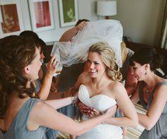 A cute bride get ready photo. Matt Blum Photography