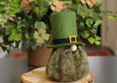 Irish Leprechaun Gnome, St Patrick's Day, Green Felt Gnomes, Fairy Gnome, Scandinavian Gnomes, Irish Gnome, Gifts, Ireland, Gnome Makers by TheGnomeMakers on Etsy