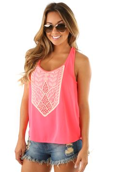 Never Letting Go Top: Neon Pink- Use code THOLLISREP at checkout to save 10% EVERY time you shop at www.shophopes.com! Free shipping in US and Canada. International shipping is available. SHARE THIS CODE WITH YOUR FRIENDS, AND HAPPY SHOPPING:)