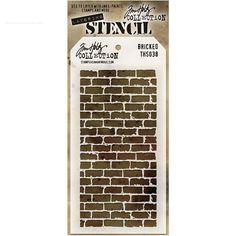 Plantilla stencil Bricked. Tim Holtz