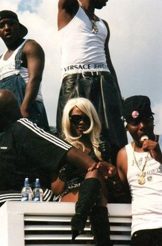 Lil Kim and her crew, mid 90's