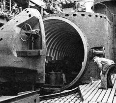 Portaviones sumergibles |Todo sobre la Segunda Guerra MundialLa boca y tapa del angar del I-400