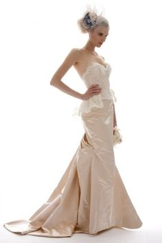 Trend: Peplum silhouettes. Gown by Elizabeth Fillmore.peplum dress #maria257893 #stylefashion #   2dayslook.com