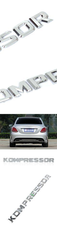 DWCX 3D Chrome KOMPRESSOR Badge Emblem Sticker for Mercedes Benz SLK CLK SL CLS ML GL A B C E S Class CL55 SLK200 C180 CLC200