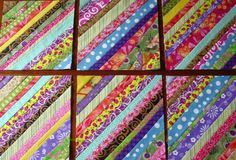 Overrun with Scraps? Make String Quilts! (Tutorial) - Learn how to transform your fabric scraps into beautiful new scrappy quilts by making string quilts - Scrappy Quilt Patterns, Scrappy Quilts, Easy Quilts, Quilt Blocks, Circle Quilts, Applique Quilts, Quilt Top, Scrap Fabric Projects, Fabric Scraps