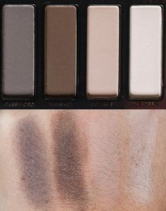 Urban Decay Smoky palette swatches