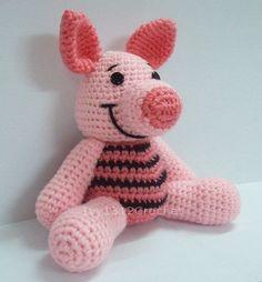 "Piglet 7.08"" - Finished Handmade Winnie the Pooh Amigurumi crochet doll Home decor birthday gift Baby shower toy."
