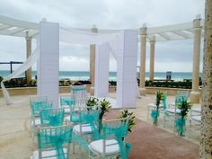 Sandos Cancun resort beach wedding