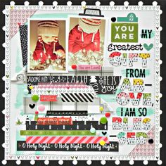 Bella Blvd IF CHRISTmas collection. You Are My Greatest Gift layout by creative team member Stephanie Buice.