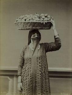 Pascal Sebah - The Veiled Orange Seller. 1880 (via The Photo History Timeline Collection)