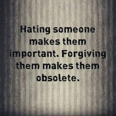 Hatred is also such a sapping emotion. #hatred #forgiveness