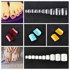 500 Faux Ongles Pied Acrylique Manucure Capsules Toe Tips French Nail Art DIY[Transparent,Lot de 500]